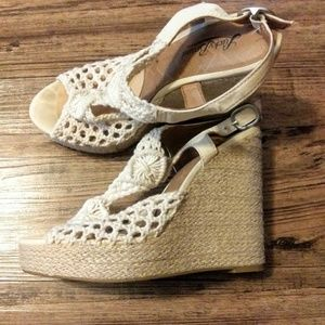 Lucky Brand Crocheted Wedges